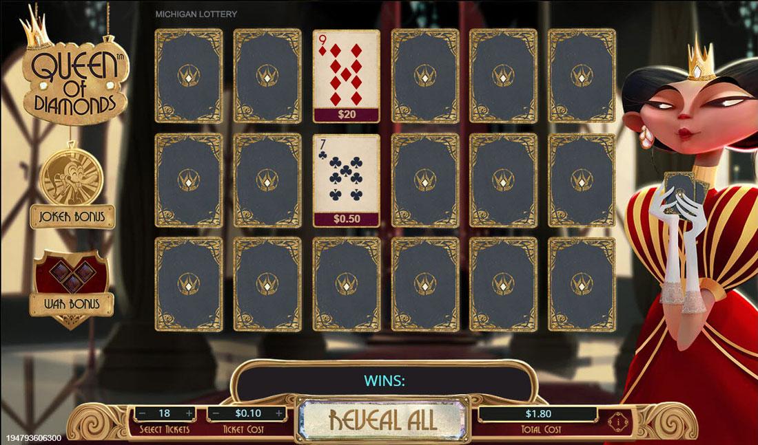 queen of diamonds instant game
